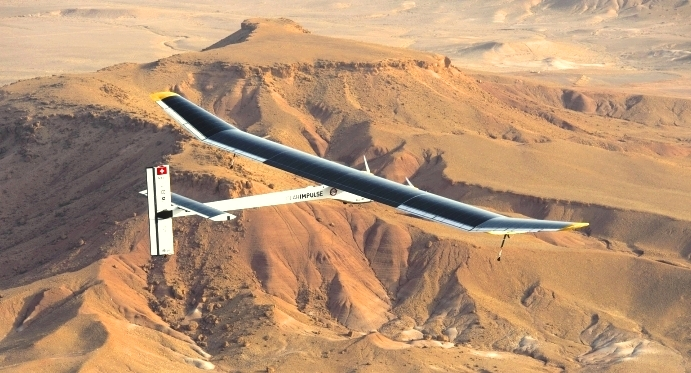 In June 2012, the Swiss solar-powered plane made record intercontinental flight to Ouarzazate, Morocco, site World Bank-financed solar project to connect continents with power of Sahara sun.