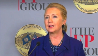 Sec. of State Clinton discusses transformational trends, including evolving situation in Syria and Dec. 12 'Friends of Syria' meeting in Morocco, at Foreign Policy Group forum in DC on Thurs.