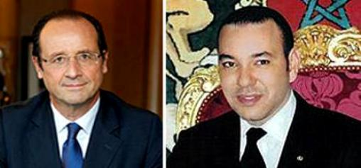HM King Mohammed VI and French president François Hollande had telephone conversation to discuss latest developments in Mali