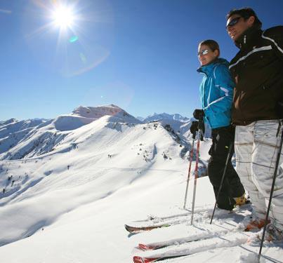 The snow is good high atop Morocco's Atlas Mountains at Oukaimeden Ski Resort.