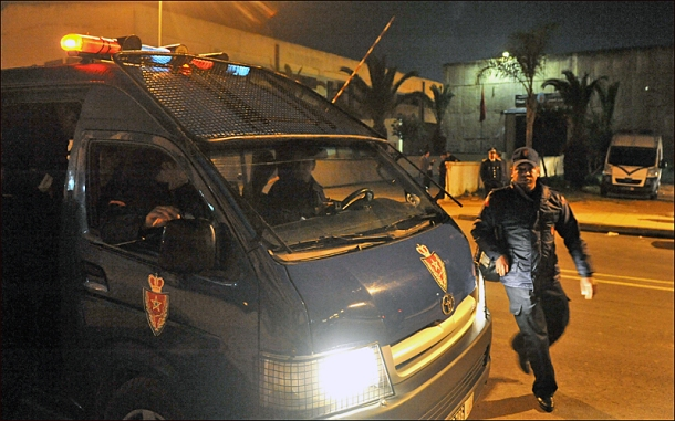 Moroccan security forces recently dismantled multiple al-Qaeda linked cells. [AFP/Abdelhak Senna]