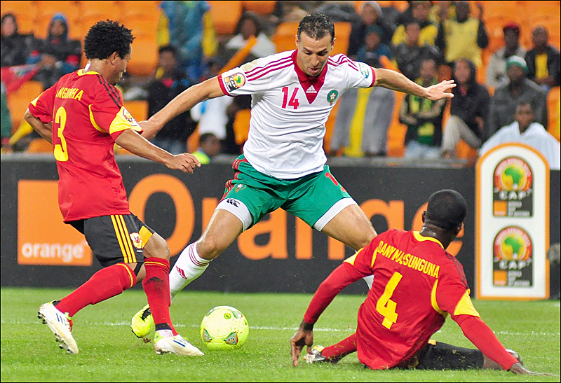 Morocco played Angola in a Group A game of the 2013 CAN on Jan.19th - Magharebia [Abdou Tajeddine]