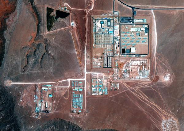The Amenas gas field in Algeria is seen in this September 10, 2012 handout satellite image courtesy of Google Earth. REUTERS