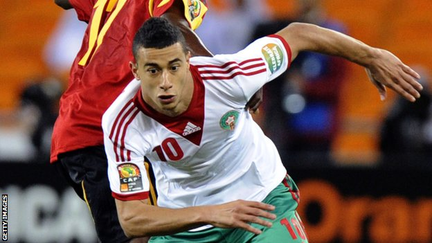 Morocco star Younes Belhanda.  The Atlas Lions face Cape Verde on Wednesday  at Moses Mabhida Stadium in Durban, South Africa, for its second match of Group A competition in the 2013 Africa Cup of Nations.  Morocco held Angola to a 0-0 draw in their first game last Saturday.  Angola plays South Africa Wednesday.