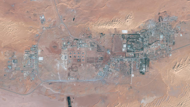 A high-res satellite image of the Amenas gas facility taken on Dec 7, 2012./ GeoEye Satellite Image