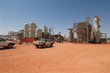 Gas field in Amenas, Algeria where al-Qaeda-linked militants held 41 hostages.