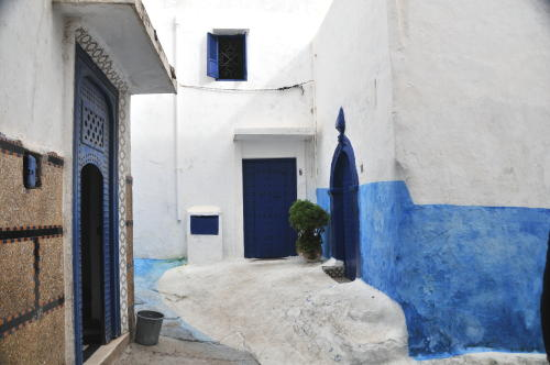 Blue and white in Rabat