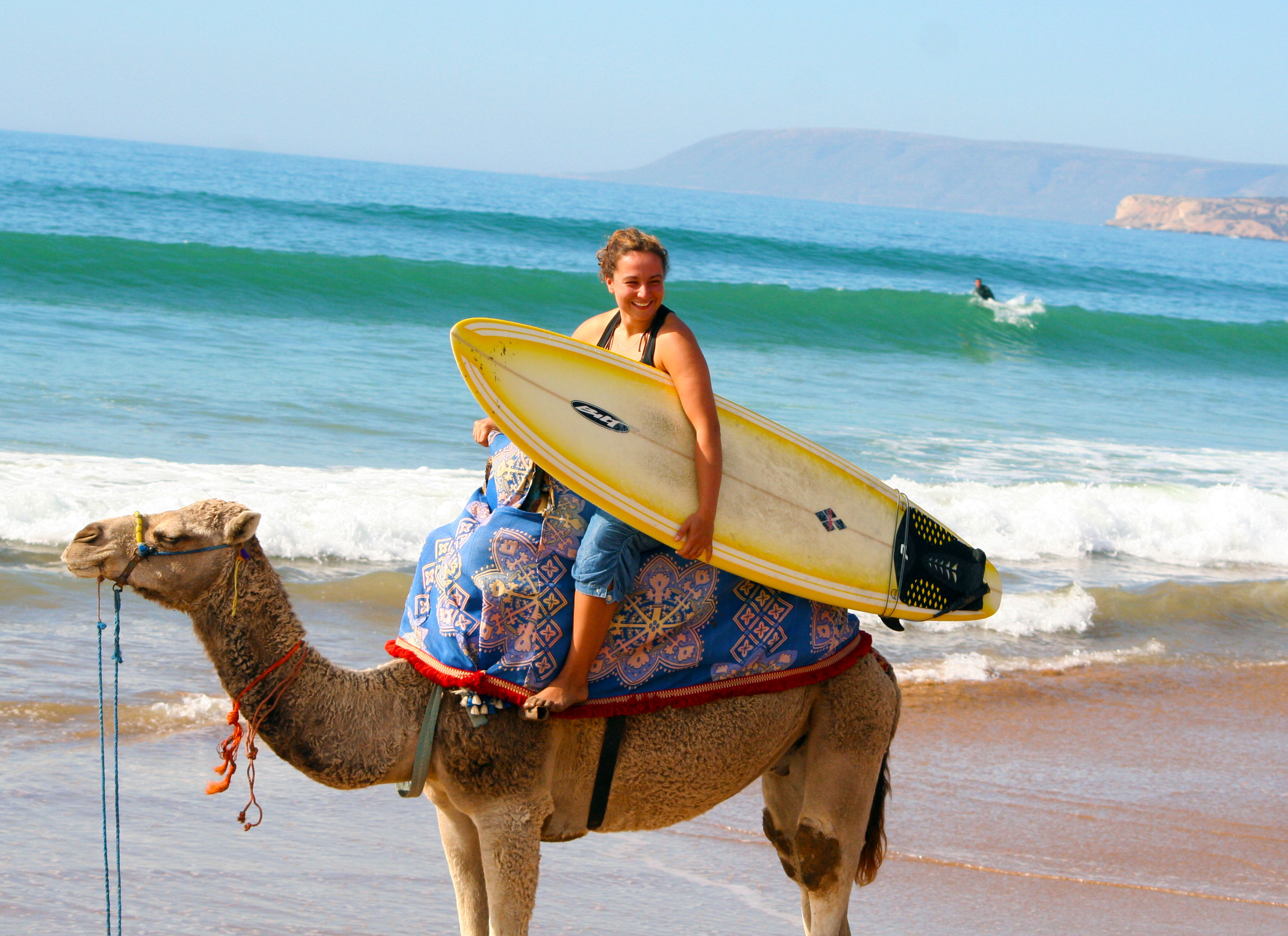 Surfs up, as is beach transportation, for Morocco winter surfing