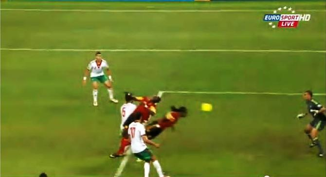 Angola misfires on chance for header off corner kick in waning minutes of 0-0 draw with Morocco's Atlas Lions at AFCON