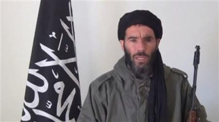 Mokhtar Belmokhtar, identified by Algerian interior ministry as leader of militant Islamic group, in video  obtained by Reuters