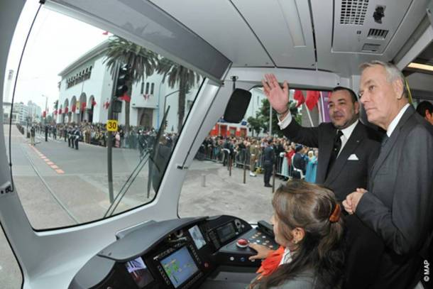 Royal Inauguration of the Casablanca Tramway with Jean-Marc Ayrault, French Prime Minister