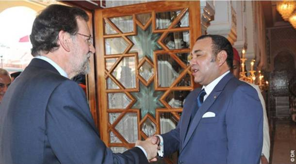 Meeting between King Mohammed VI and Mariano Rajoy, leader of the Spanish government.