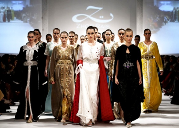 A highlight of Muscat Fashion Week 2013 in Oman was the 36-piece collection by Moroccan kaftan couturier Zhor Rais