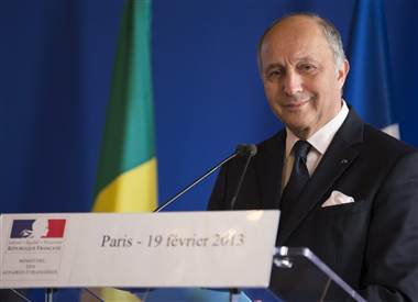 French Foreign Affairs Minister Laurent Fabius confirmed the abduction in Cameroon of the family of seven at a Tuesday news conference. Ian Langsdon / EPA