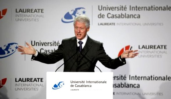 "Former President Clinton addressed The International University of Casablanca's conference on the ""Challenges of Emerging Markets in the Global Economy"" in Casablanca. Reuters"