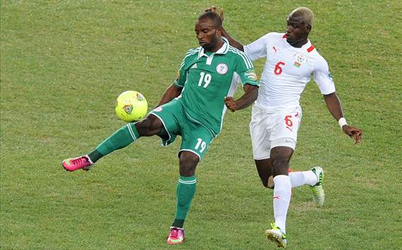 Nigeria scored in the 40th minute of the first half and held off underdogs Burkina Faso for the final margin to win the 2013 AFCON crown.