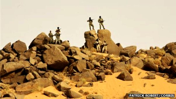 Mali's Tigharghar Mountain chain allows terrorists to strike within the region and then vanish when pursued, according to a new report by Stratfor, a Texas-based intelligence firm. Caves, tunnels and land mines have made the jagged mountains an impenetrable safe haven for the terrorists.  FOX/AP