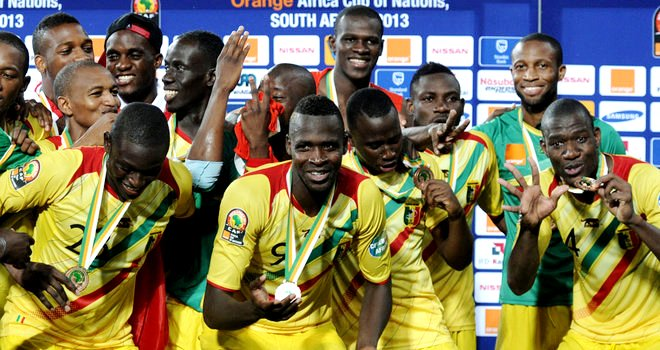 Mali celebrates after 3-1 victory over Ghana to take 3rd place at 2013 AFCON