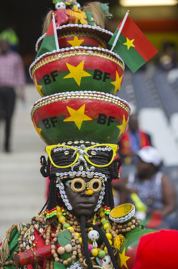 The most lavishly ornamented fan at the tournament comes from Burkina Faso, which advanced to the final match, before falling 1-0 against Nigeria. Business Insider