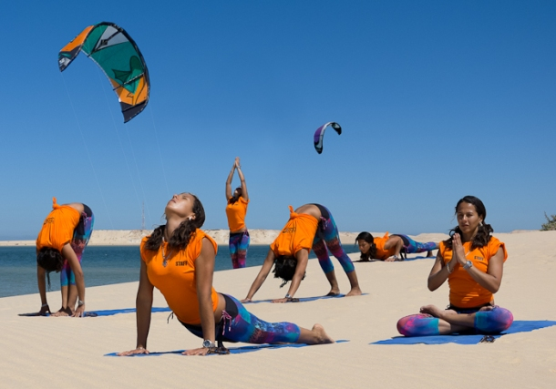 Or relax with some yoga on the beach