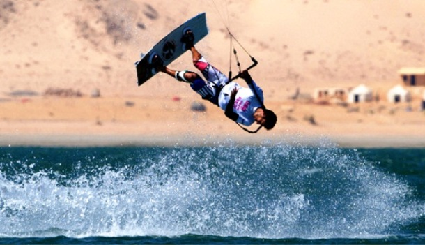 Kite-boarding season takes off in desert sands of Dakhla, Morocco