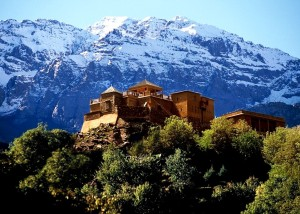 The splendor of Kasbah du Toubkal -- High in Morocco's Atlas Mountains.
