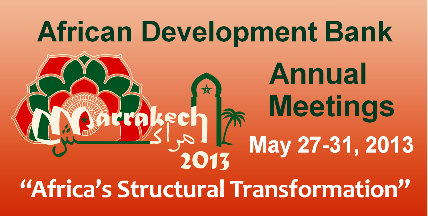 The African Development Bank held its annual meetings in Marrakech, Morocco May 27-31, with a focus on advancing Africa's future by promoting inclusive growth and tapping natural resources to fuel continued economic transformation.