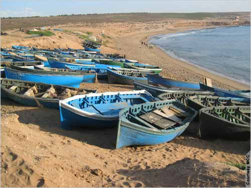 Improved landing sites for boats help fishermen get their product to consumers more efficiently and hygienically. MCC