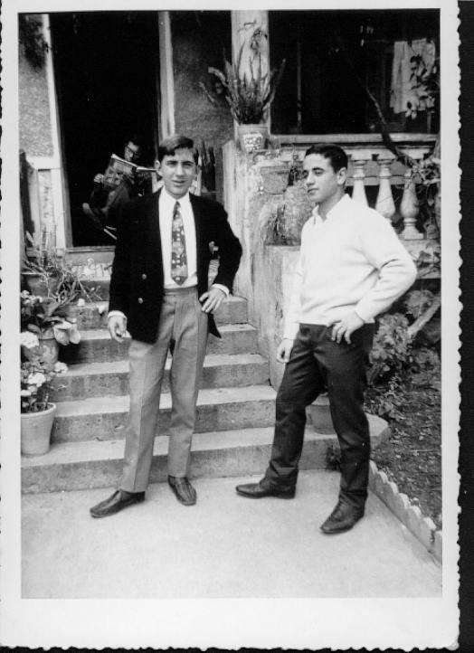 "Meknes, 1960. Charlie Dahan at left with his friend Henri ""Riri"" Heloua."