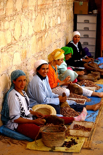 The business of harvesting, processing and marketing the fruit and oil is almost entirely an activity of village women.