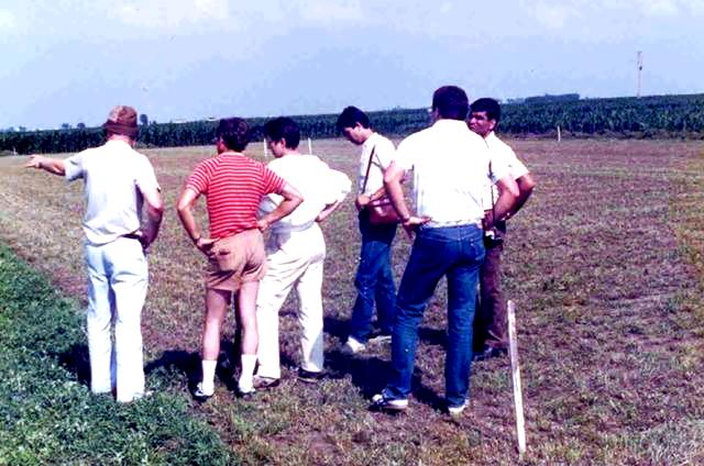 The alfalfa research team Sadiki worked with as a PhD student from 1986-1990. Courtesy of Mohammed Sadiki