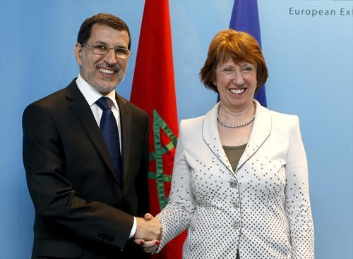 EU Foreign Policy Chief Catherine Ashton meets with Moroccan Foreign Minister Dr Saad-eddine El Othmani in Rabat.