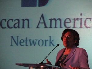 Ida McPherson of  the Virginia Department of Minority Business Enterprise speaks at the event.