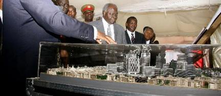Former president Kibaki presides over a function at the proposed Konza techno city. Kenya and Morocco's ICT sector among others set to improve after the signing of a trade agreement that seeks to boost business between the two. Nation Media Group