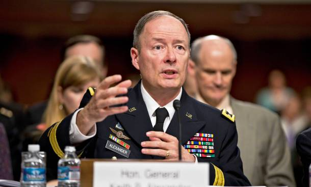 Testifying before the Senate Appropriations Committee, Gen. Keith Alexander, head of the National Security Agency said his agency's broad electronic surveillance programs have helped thwart dozens of terrorist attacks. Photo: VOA