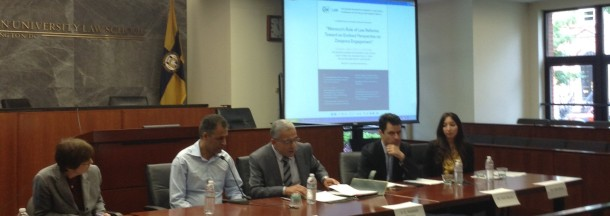 Panelists discuss the Moroccan-American diaspora.
